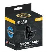 "Ram Mount Double Socket Arm Short 1"" Ball RAMMC201A"